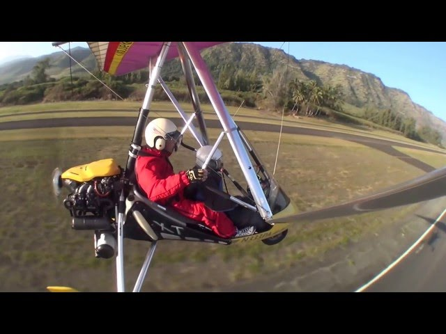 Powered Hang-Gliding landing @ Paradise Air Hawaii