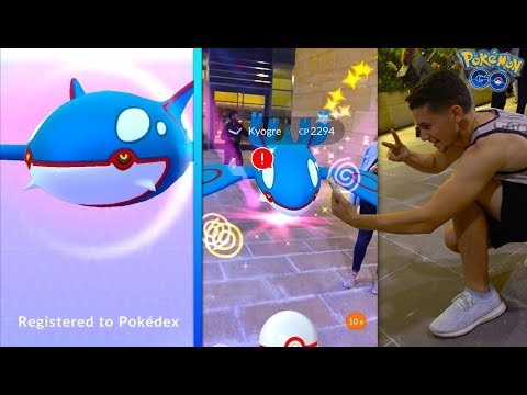 Download Youtube: CATCHING THE NEW LEGENDARY KYOGRE IN POKÉMON GO!
