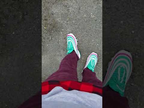 bd8af3b54d46 Nike Air Max 97 SOUTH BEACH After Class At College Review! We Are Almost At  200 Subscribers 😍💕🙏💯