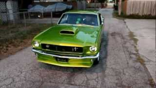 "Elphaba the Wicked 1965 Mustang Prostreet Fastback  ""Green Smoke"""