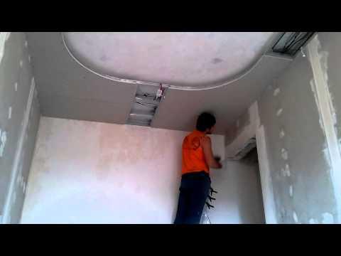 Потолок из гипсокартона своими руками Видео инструкция