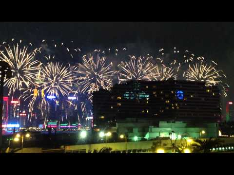 Fireworks at Victoria Harbor, 1st Oct 2012