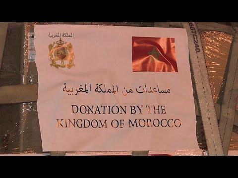 فيديو: طائرة مغربية محملة بالمساعدات الإنسانية والطبية المخصصة لغزة والضفة…  - 09:54-2021 / 5 / 16