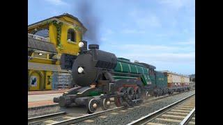 LEGO CITY UNDERCOVER Driving the Emerald Night Steam Locomotive