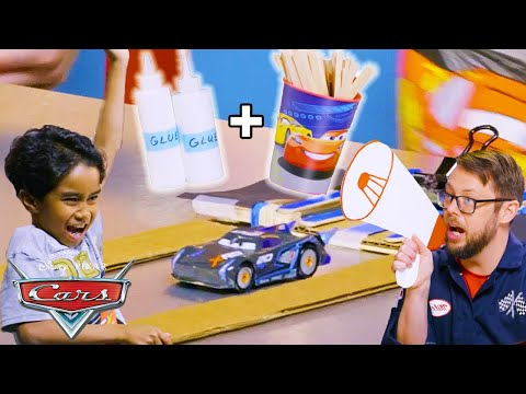 How to Make a Toy Car Launcher!   DIY Die-Caster   Pixar Cars  