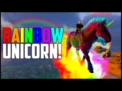 RARE MOUNT - FLYING RAINBOW UNICORN! - Ark Survival Evolved Modded Ep 9 ( Ark Primal Fear & More )