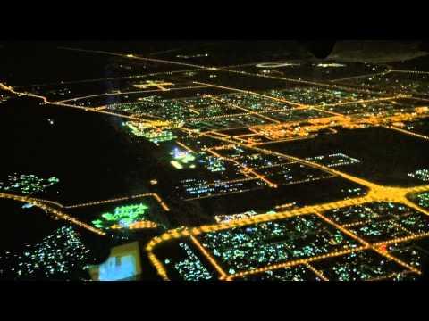 A-380 Emirates Москва - Дубай ночной перелёт