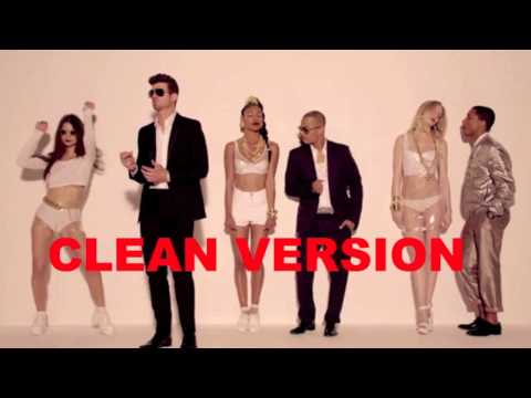 Robin Thicke - Blurred Lines Clean Radio Edit