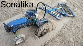 Homemade Harrow for Toy Tractor Model