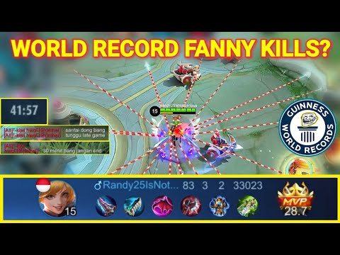 RANDY25 PLAYS FANNY IN LOW RANK?! WORLD RECORD FANNY KILLS?? | Mobile Legends