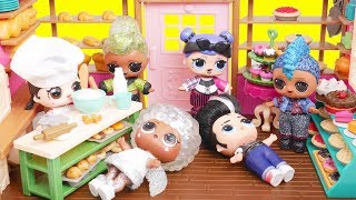 Bakery Dolls Adventures with LOL Baby Goldie and Toys Dolls Gaming