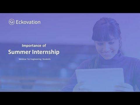 Importance of Summer Internship | Summer Internship 2018 | Eckovation | Engineering