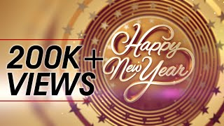 Happy New Year Wishes 3D Animation Greetings Motion Graphics