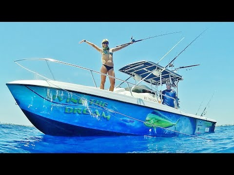 Florida Offshore Mahi, Kingfish and Snapper Fishing with Live Bait ft. Sick Boat Wrap