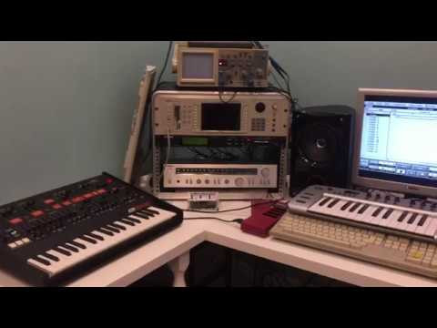 My Atari ST goes to work with Cubase MIDI sequencer, Akai S5000 sampler and Korg Arp Odyssey