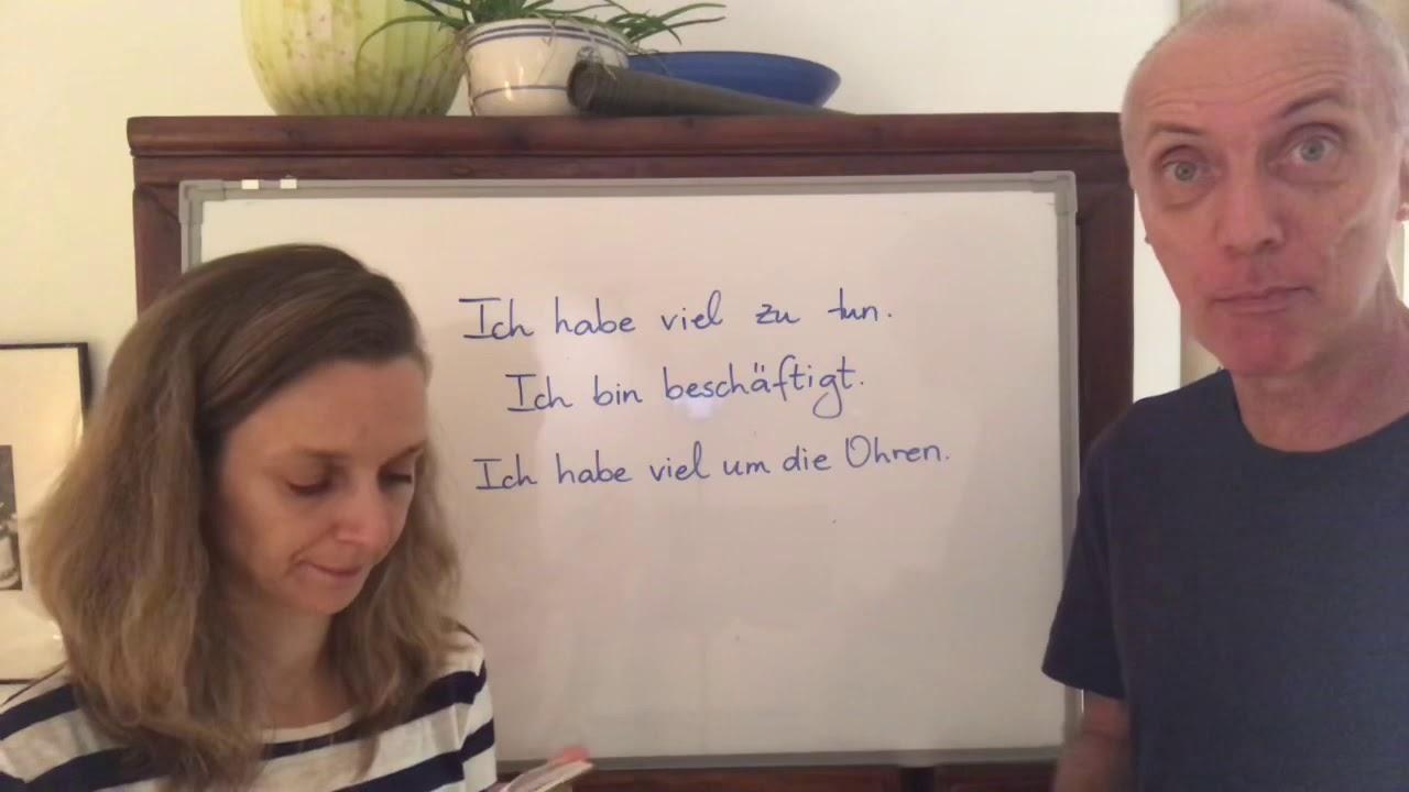我很忙 - 德文怎麼說? - YouTube