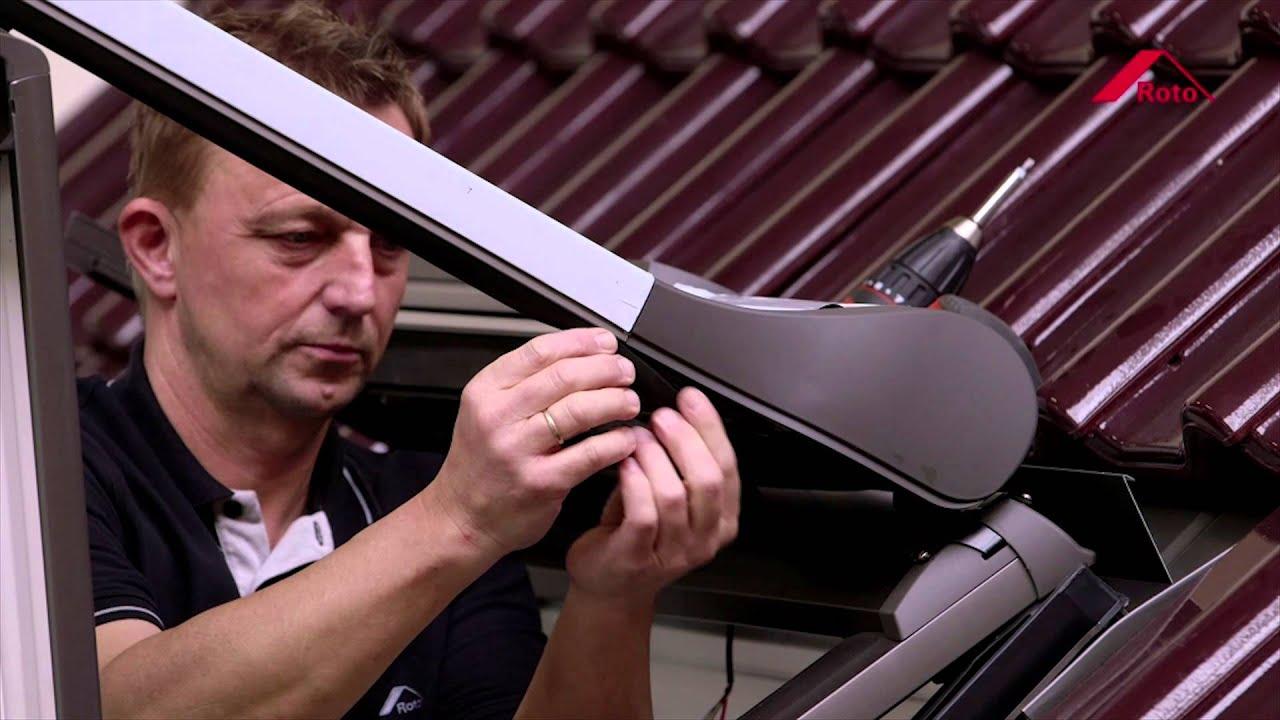 Fr montage volet roulant solaire commande radio zro sf for Roto fenetre de toit