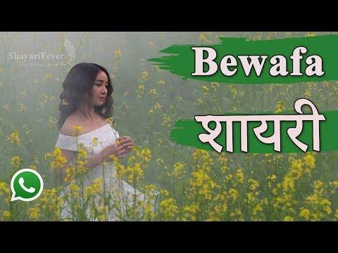 Bewafa Shayari For Boyfriend in Hindi by Girl (2018) | Bewafa WhatsApp Video Status