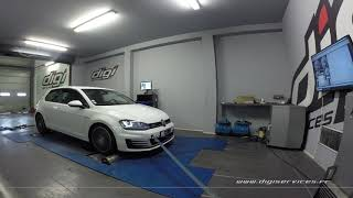 VW Golf 7 tdi 184cv DSG Reprogrammation Moteur @ 233cv Digiservices Paris 77 Dyno