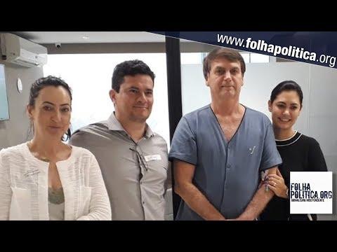 'O homem é forte', diz Moro após visita a Bolsonaro no hospital