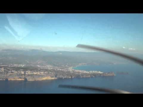 Flying along the coastline between Cassis and la Ciotat, Provence, France