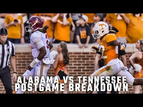 Postgame Report: Alabama vs Tennessee