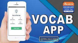 #1 Vocab App Editorial, Quiz, Grammar, Dictionary by wifistudy | Promo Video | Play Store screenshot 1