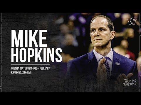 Men's Basketball: Coach Hopkins Postgame Press Conference (Arizona State)