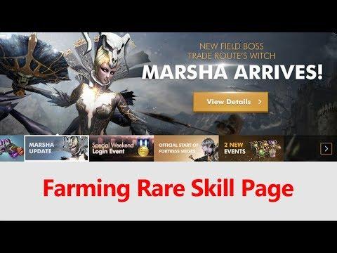 Lineage 2 Revolution Farming Rare Skill Page