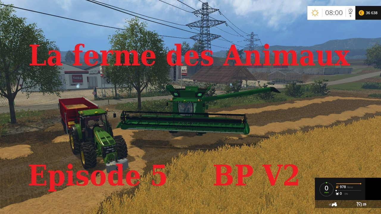 farming simulator 2015 la ferme des animaux episode 5 youtube. Black Bedroom Furniture Sets. Home Design Ideas