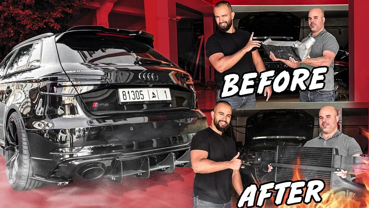 NEW INTERCOOLER FOR MY RS3 🤩 // RS6 سريعة مثل 🔥🚀
