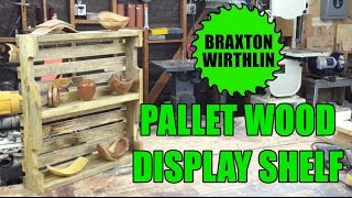 How-to DIY Easy Pallet Wood Display Shelf