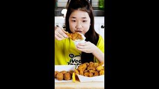 (소리맛집) 10년생이 먹는 뿌링클 과 치즈볼 #Sho…