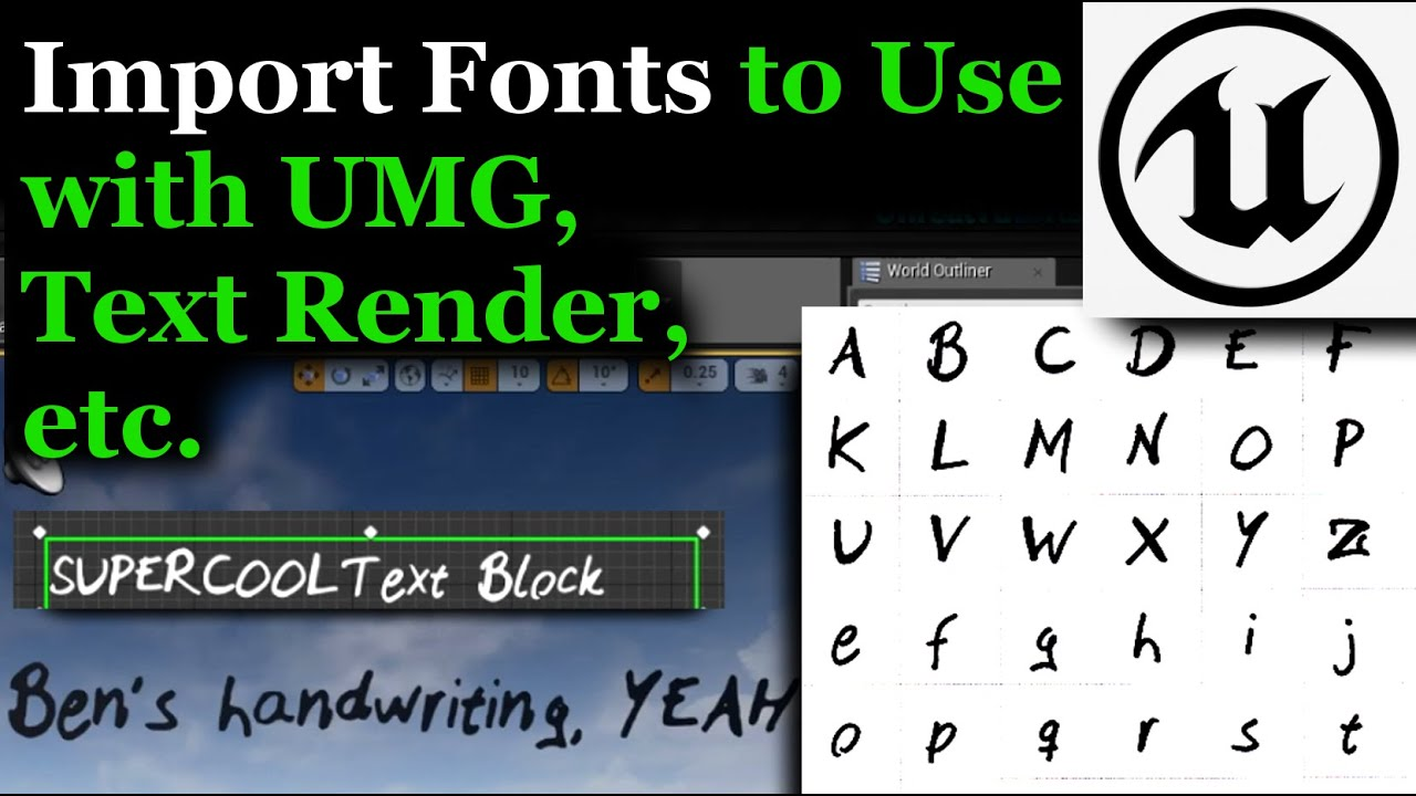 UE4 Tutorial | Import Fonts for UMG, Text Render, etc