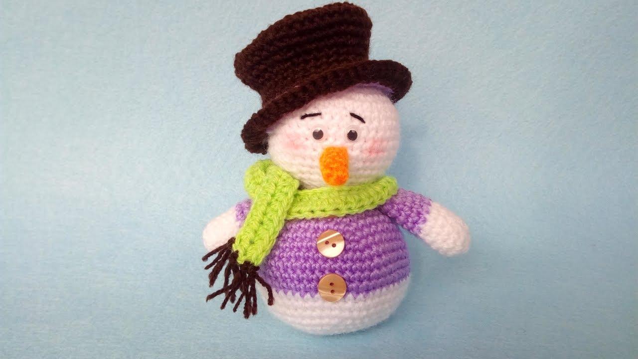 Pupazzo Di Neve Uncinetto Amigurumi Tutorial Snowman Crochet Muneco