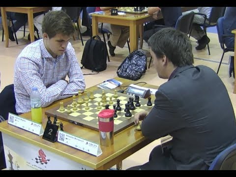 EXCITING BISHOP VS KNIGHT ENDGAME!!! MAGNUS CARLSEN VS ALEXANDER MOROZEVICH - BLITZ CHESS 2014