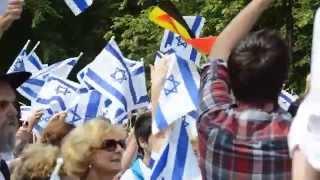 Pro-Israëlmoment in Brussel (zondag 27 juli 2014) - JOODS ACTUEEL VIDEO