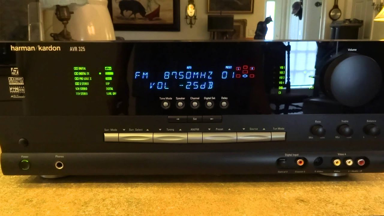 harman kardon avr 325 7 1 channel 65 watt receiver with. Black Bedroom Furniture Sets. Home Design Ideas