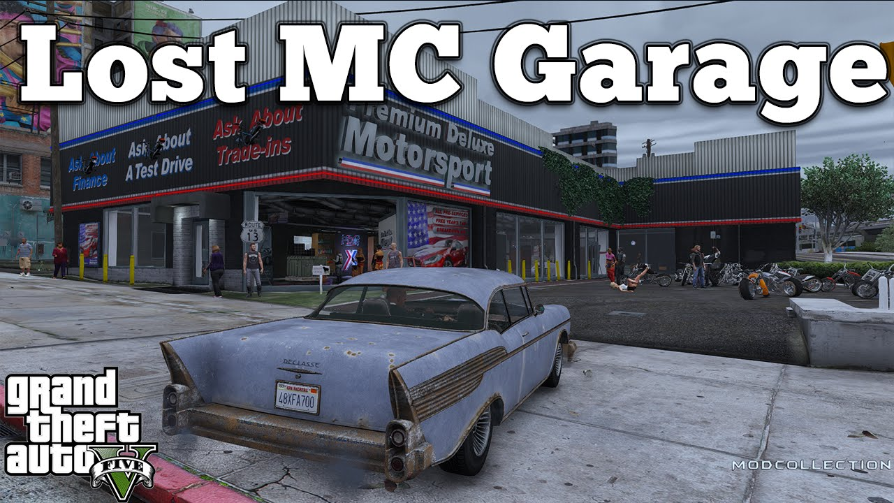 Grand Theft Auto V PC Mods  Lost MC Garage HQ DOWNLOADGTA V PC