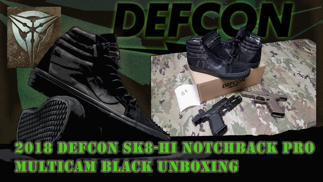 43dd0d92d6 2018 Vans Defcon Sk8 Multicam Black Unboxing - YouTube