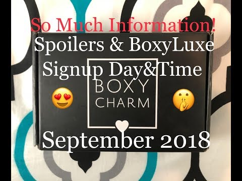 BoxyCharm Spoilers September 2018|BoxyLuxe Spoilers, Signup Day/Time & More!