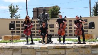 "Apocalyptica ""Cold Blood"" - Live at Lubbock's Buddy Holly Statue"