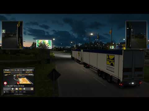 Euro Truck Simulator 2 (34 meters trailer to the ferry)