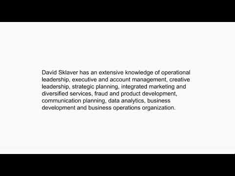 David Sklaver - Senior Marketing Manager From New York