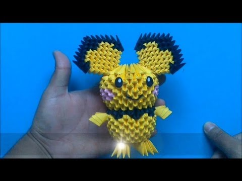 Origami 3D Pichu Pokemon