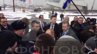 В. Путин в Красноярске