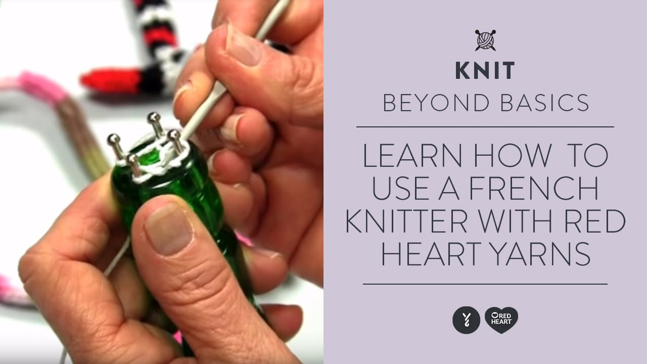 Knitting Doll How To Use : Learn how to use a french knitter with red heart yarns
