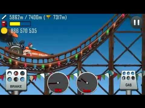 Hill Climb Racing Roller Coaster Rally Car