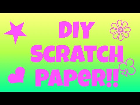 How to make DIY scratch paper!