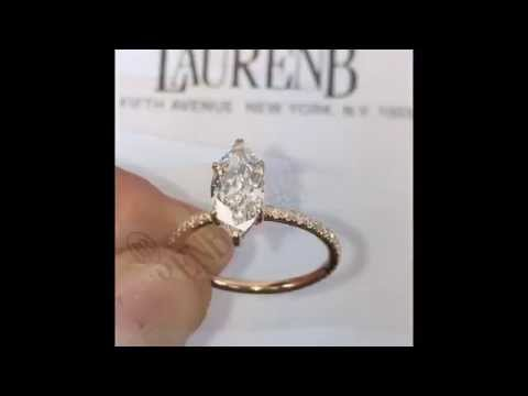 1.20 ct Marquise Diamond Engagement Ring Rose Gold